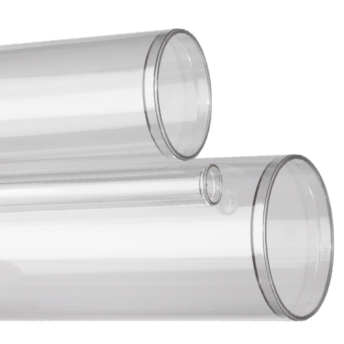Clear Plastic Tubes With Sealed Bottoms For Use As Product